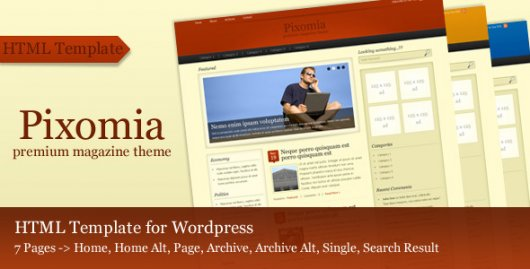Pixomia – тема WordPress от ThemeForest