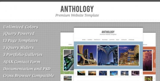 Anthology – XHTML шаблон от ThemeForest
