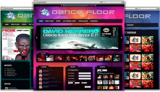 Dance Floor – тема WordPress от GorillaThemes
