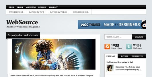 WebSource – тема WordPress от WooThemes